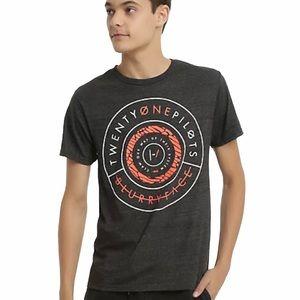 ☀️ NEW Twenty One Pilots Short Sleeve T Shirt Gray